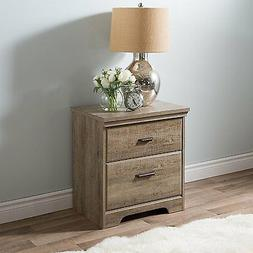 South Shore Versa Collection Wood Nightstand with 2-Drawer i