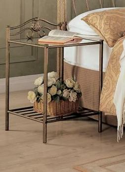 Sydney Metal Nightstand Antique Brushed Gold
