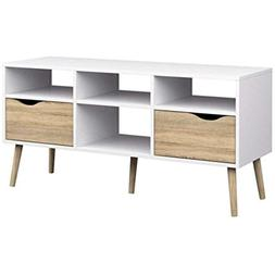 The Authentic Design Diana TV Stand Mid-Century White Oak