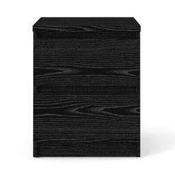 Tvilum 7029161 Scottsdale 2 Drawer Nightstand, Black Wood Gr