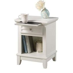 White Finish Arts and Crafts Classic Night Stand!