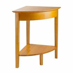 Winsome Wood Winsome Wood Corner Table with Shelf, Honey WIN