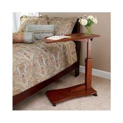 Wooden Bedside Eating Reading Study Table with Adjustable He