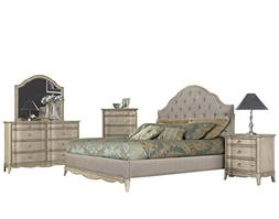 Abrianna 5 Piece Queen Bedroom Set in Antique Driftwood - Be