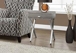 Accent Nightstand in Dark Taupe Finish