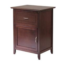 Winsome Accent Table with Door and Drawer, C Handle