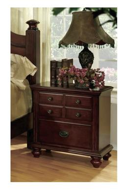 alianess cherry european 2 drawer nightstand bedroom