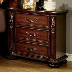 Furniture Of America Arthur Brown Cherry Finish Traditional
