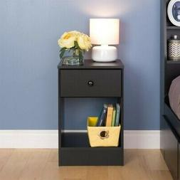 Astrid 1 Drawer Nightstand, Black