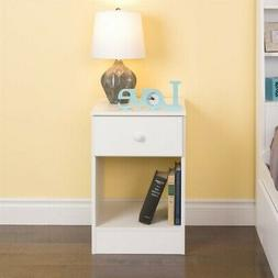Prepac Astrid Tall 1-Drawer Night Stand  White - WDNH-0401-1