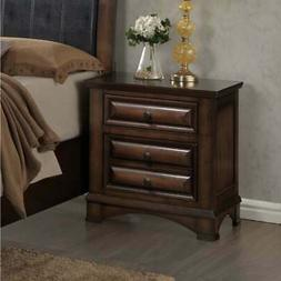 Roundhill Furniture B179N Broval Wood 2 Drawers Night Stand,