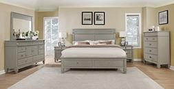 Roundhill Furniture B204KDMN2C York 204 Solid Wood Construct