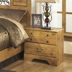 Ashley B219-92 Two Drawer Night Stand - Light Brown