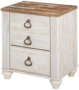 Signature Design by Ashley B267-92 Willowton Nightstand Whit