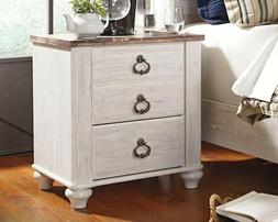 Signature Design by Ashley B267-92 Willowton Nightstand, Whi