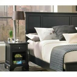 Home Styles Bedford Queen Headboard & Night Stand, Black Fin