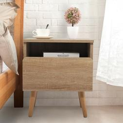 Bedroom Night Stand Bedside End Table 2 Layer w/Drawer Stora