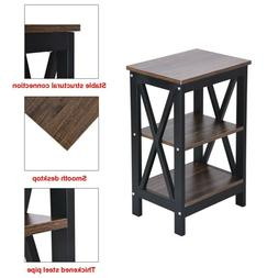 Bedroom Night Stand Bedside Table Furniture Storage Wood 3ti