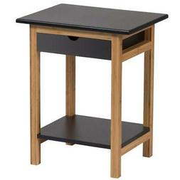 Bedroom Night Stand End Side Table with 1 Drawer and Underne