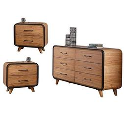 Acme Furniture 3 Piece Bedroom Set with Dresser and Set of 2