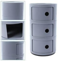 Bedside Table Bedroom Cabinet Organizer Night Stand 3 Layer