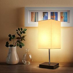 Tomshine Bedside Table Lamp Small Nightstand Lamps for Bedro