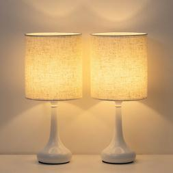 Bedside Table Lamps Set of 2,Small Nightstand Lamps for Bedr