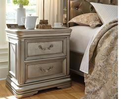 Signature Design by Ashley Birlanny Silver Two Drawer Night