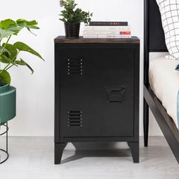 Modern Nightstand Bedside End Table MDF Top Small Storage Ca