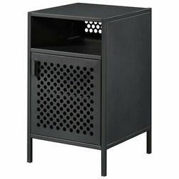 Sauder Boulevard Cafe Metal Nightstand in Black