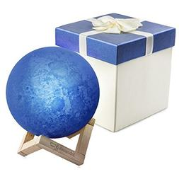 16 Color Branded Wooden Base 3D Moon Lamp With Gift Box, USB