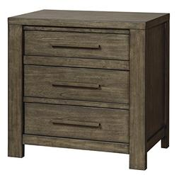 Camilone Three Drawer Night Stand Dark Gray/Contemporary