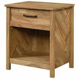 Sauder Cannery Bridge 1 Drawer Nightstand in Sindoori Mango