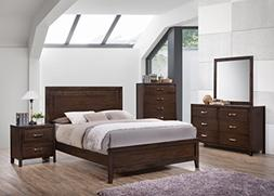 Kings Brand Furniture Cappuccino Finish Wood Queen Size Bedr