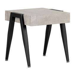 South Shore City Life Concrete Gray and Black End Table