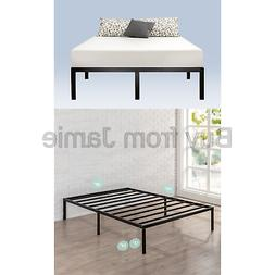 Zinus Yelena 14 Inch Classic Metal Platform Bed Frame with S