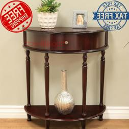 Classic Wood End Table Night Stand Living Room Side Shelf So