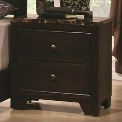 Coaster Company Conner Collection Nightstand, Cappuccino