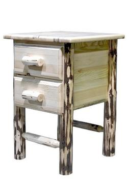 Montana Woodworks Montana Collection 2-Drawer Nightstand/End