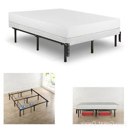 """12"""" Compact Bed Frame Box Spring Mattress Extra High Fit Twi"""