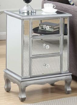Convenience Concepts Gold Coast Collection 3-Drawer Mirrored
