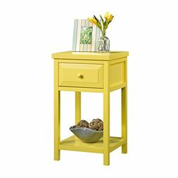 Sauder 420137 Side Table, Yellow Pantone