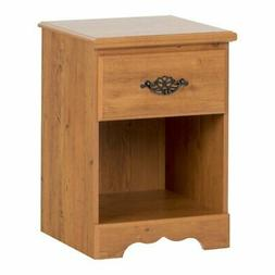 Country Style Country Pine Finish Night Stand Table