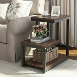 Country Table, 3-story Chair Side Table Night Stand With Sto