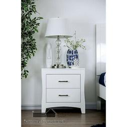 Furniture of America Deanne Night Stand w/ USB Outlet White