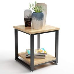 DEWEL 2 Tier <font><b>Nightstand</b></font> Cocktail Table L