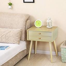 DL furniture - Side End Table Nightstand Bedroom Livingroom