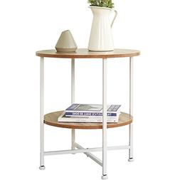 """Dland Side End Table 19.7"""", Composite Wood Board, Nightstand"""