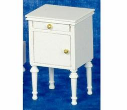 Dollhouse Miniature White Night Stand by Town Square Miniatu