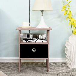 End Side Bedside Table Nightstand Organizer Night Stand with